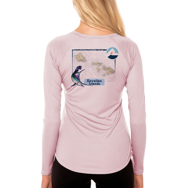 Fish Charts Hawaiian Islands Women's UPF 50+ Long Sleeve T-Shirt