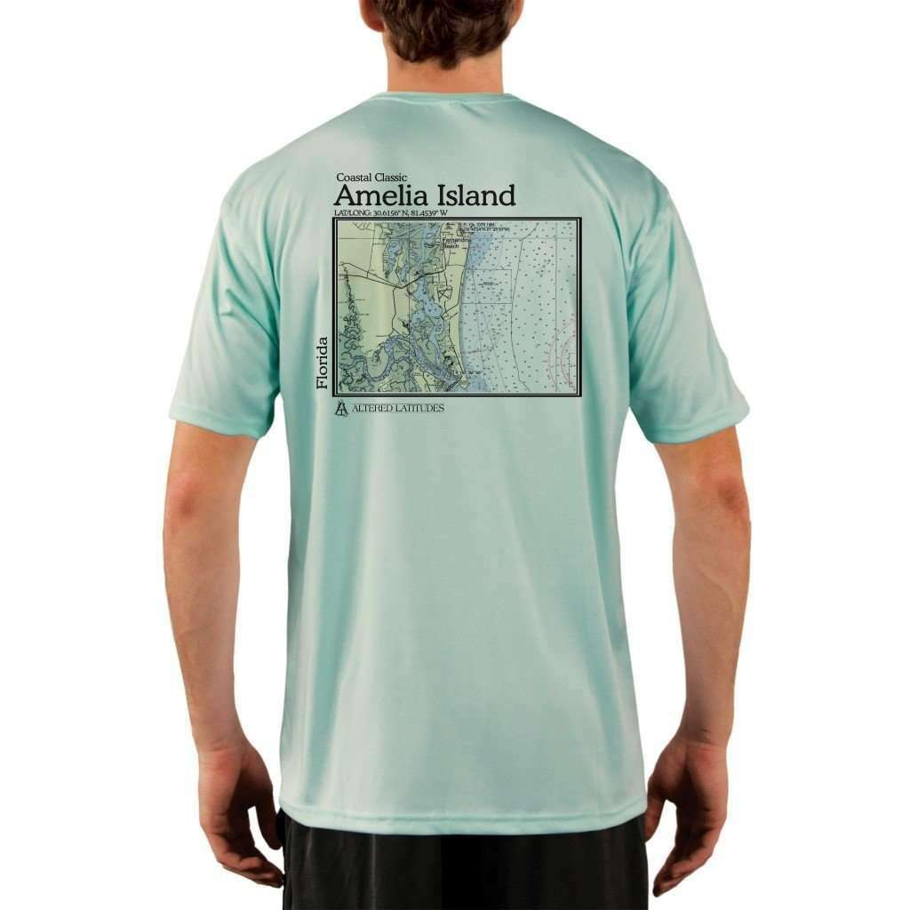 Coastal Classics Amelia Island Mens Upf 50+ Uv/sun Protection Performance T-Shirt Seagrass / X-Small Shirt