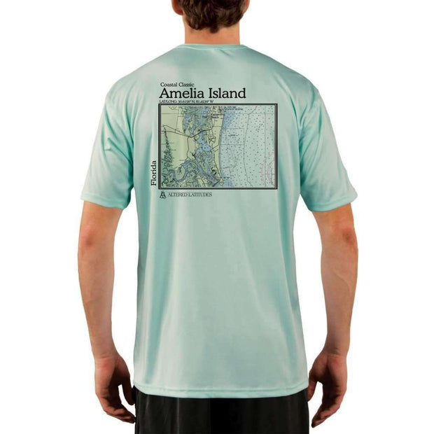 Coastal Classics Amelia Island Mens Upf 5+ Uv/sun Protection Performance T-Shirt Seagrass / X-Small Shirt
