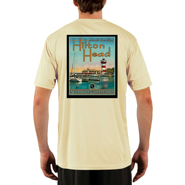 Vintage Destination Hilton Head Men's UPF 5+ UV Sun Protection Short Sleeve T-shirt - Altered Latitudes