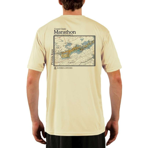 Coastal Classics Marathon Mens Upf 5+ Uv/sun Protection Performance T-Shirt Pale Yellow / X-Small Shirt