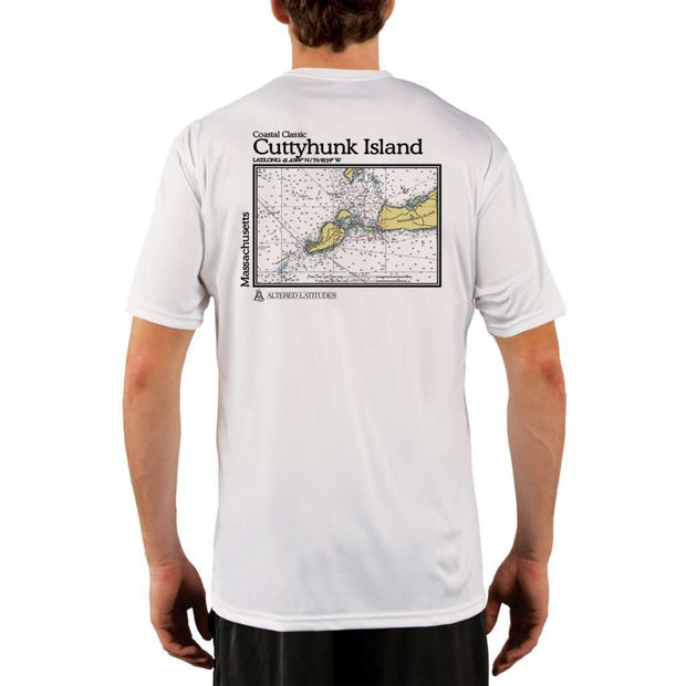 Coastal Classics Cuttyhunk Island Mens Upf 5+ Uv/sun Protection Performance T-Shirt White / X-Small Shirt