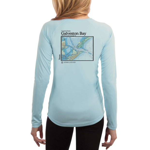 Coastal Classics Galveston Chart Women's UPF 50+ Long Sleeve T-shirt