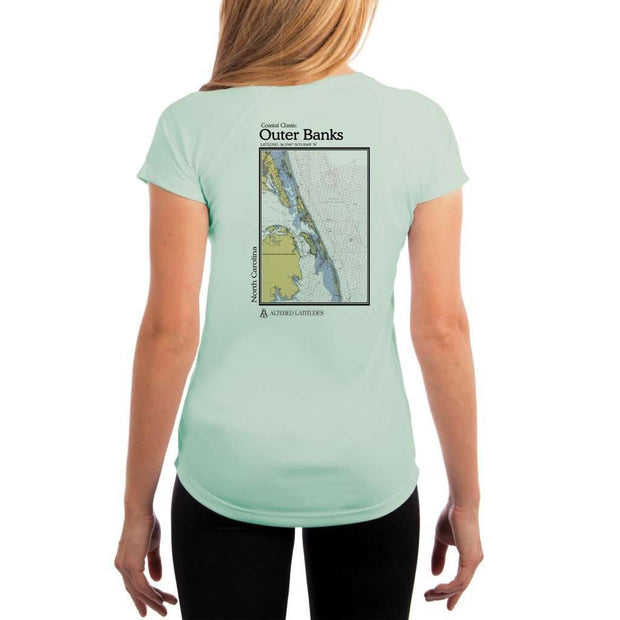 Coastal Classics Outer Banks Womens Upf 5+ Uv/sun Protection Performance T-Shirt Seagrass / X-Small Shirt
