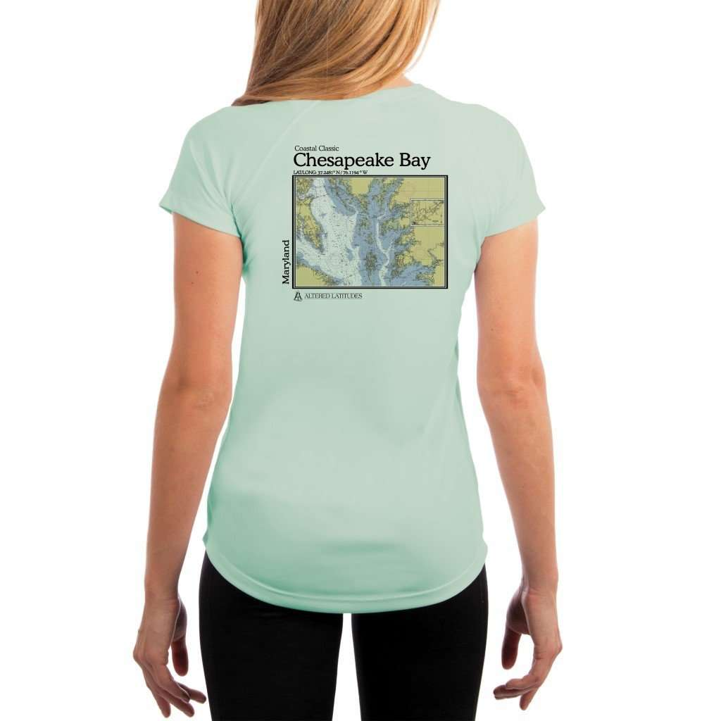 Coastal Classics Chesapeake Bay Womens Upf 50+ Uv/sun Protection Performance T-Shirt Seagrass / X-Small Shirt