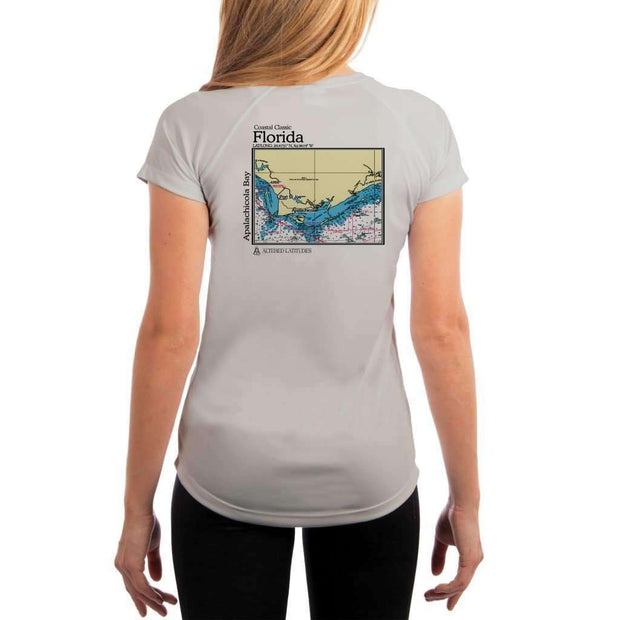 Coastal Classics Apalachicola Bay Womens Upf 5+ Uv/sun Protection Performance T-Shirt Pearl Grey / X-Small Shirt