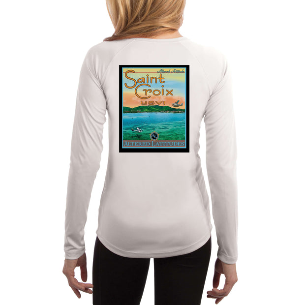 Vintage Destination St. Croix Women's UPF 50+ UV Sun Protection Long Sleeve T-shirt