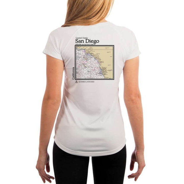 Coastal Classics San Diego Womens Upf 5+ Uv/sun Protection Performance T-Shirt White / X-Small Shirt