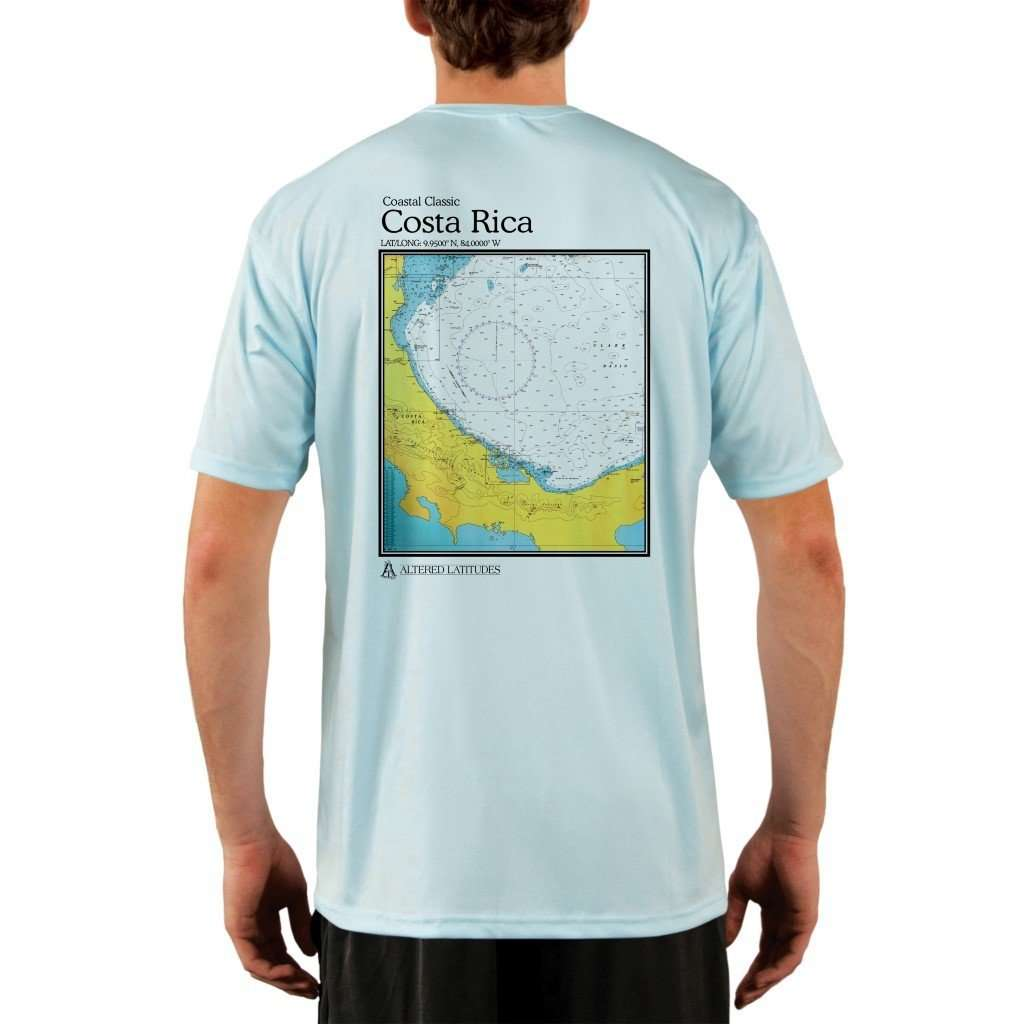 Coastal Classics Costa Rica Mens Upf 50+ Uv/sun Protection Performance T-Shirt Arctic Blue / X-Small Shirt