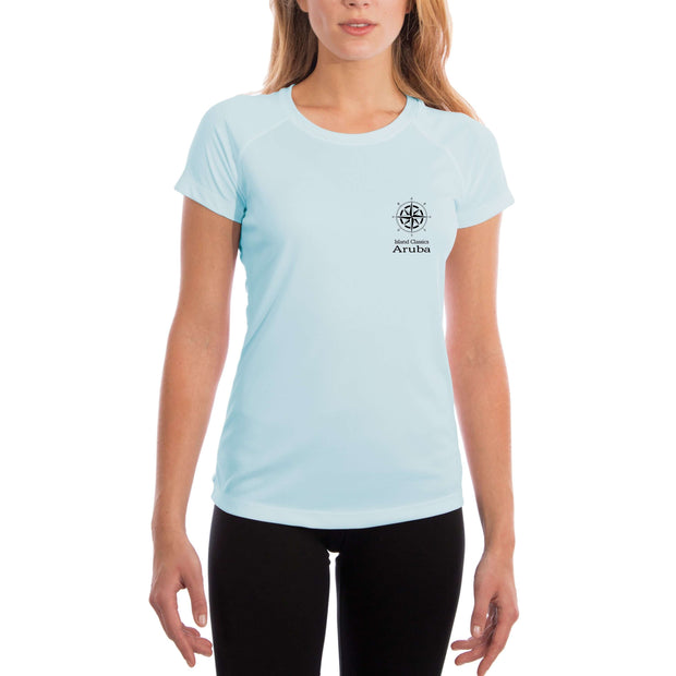 Island Classics Aruba Women's UPF 50+ UV Sun Protection Short Sleeve T-shirt