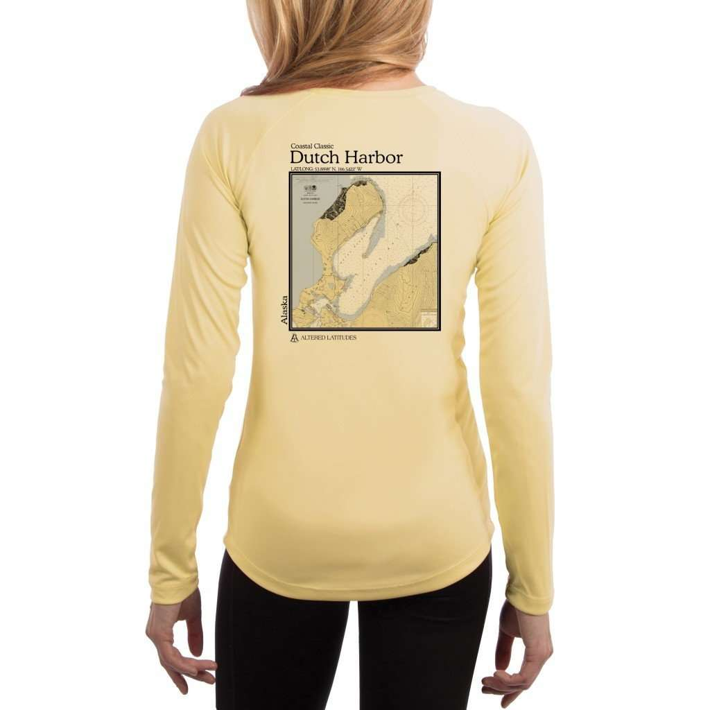 Coastal Classics Dutch Harbor Womens Upf 50+ Uv/sun Protection Performance T-Shirt Pale Yellow / X-Small Shirt