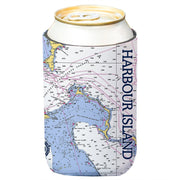 Altered Latitudes Harbour Island, Bahamas Chart Standard Can Cooler (4-Pack)