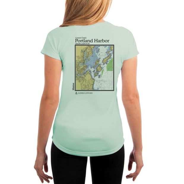 Coastal Classics Portland Harbor Womens Upf 5+ Uv/sun Protection Performance T-Shirt Seagrass / X-Small Shirt