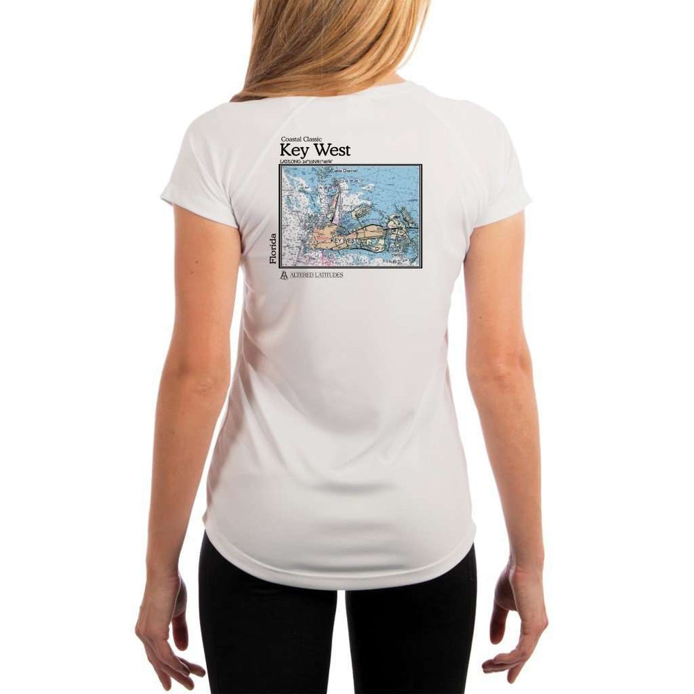 Coastal Classics Key West Womens Upf 5+ Uv/sun Protection Performance T-Shirt White / X-Small Shirt