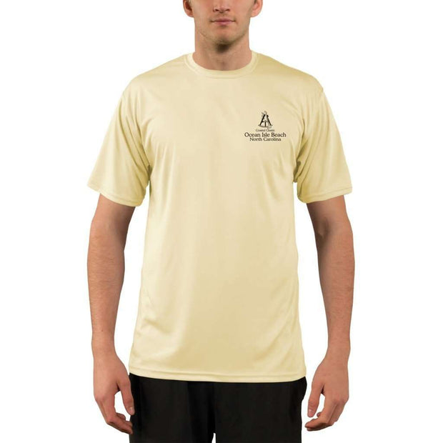 Coastal Classics Ocean Isle Beach Mens Upf 5+ Uv/sun Protection Performance T-Shirt Shirt