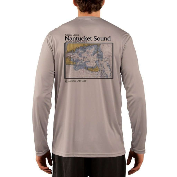 Coastal Classics Nantucket Sound Mens Upf 5+ Uv/sun Protection Performance T-Shirt Athletic Grey / X-Small Shirt