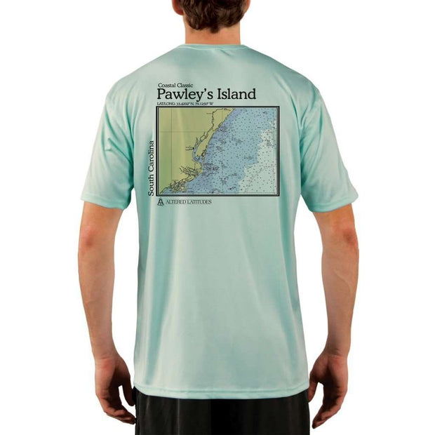 Coastal Classics Pawleys Island Mens Upf 5+ Uv/sun Protection Performance T-Shirt Seagrass / X-Small Shirt