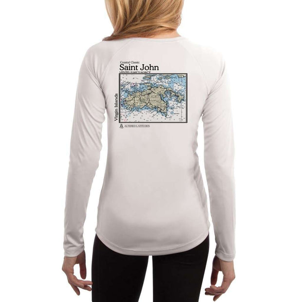 Coastal Classics Saint John Womens Upf 5+ Uv/sun Protection Performance T-Shirt White / X-Small Shirt