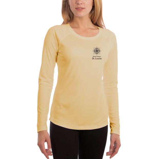Island Classics St. Lucia Women's UPF 50+ UV Sun Protection Long Sleeve T-shirt