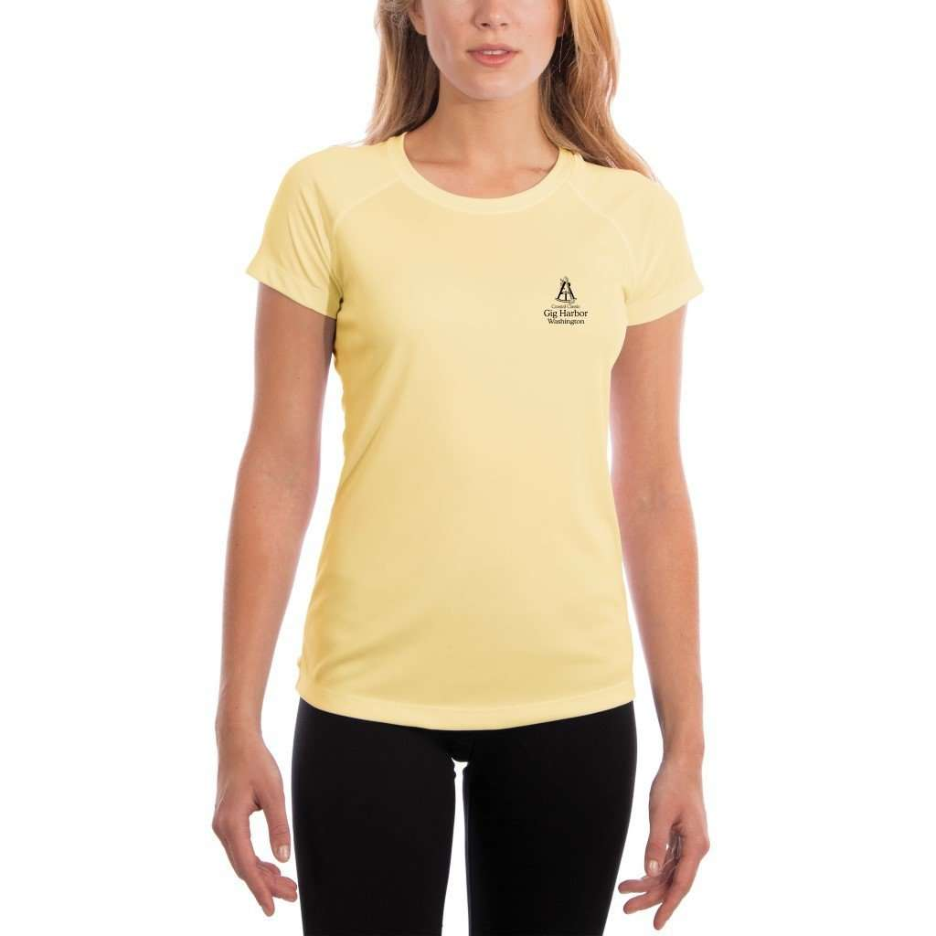 Coastal Classics Gig Harbor Womens Upf 50+ Uv/sun Protection Performance T-Shirt Shirt
