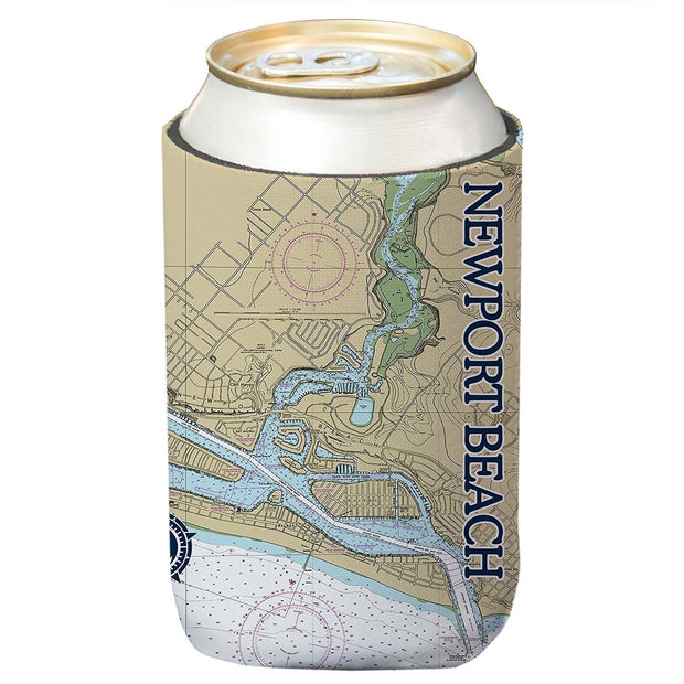 Altered Latitudes Newport Beach, CA Chart Standard Can Cooler (4-Pack)