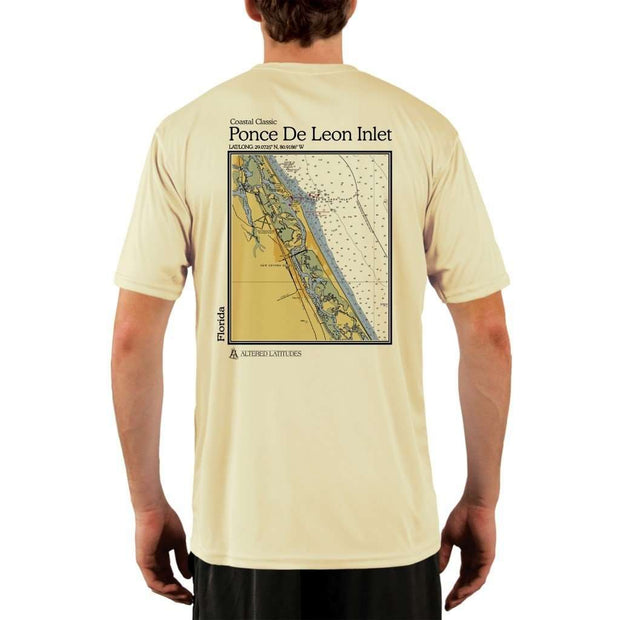 Coastal Classics Ponce De Leon Inlet Mens Upf 5+ Uv/sun Protection Performance T-Shirt Pale Yellow / X-Small Shirt