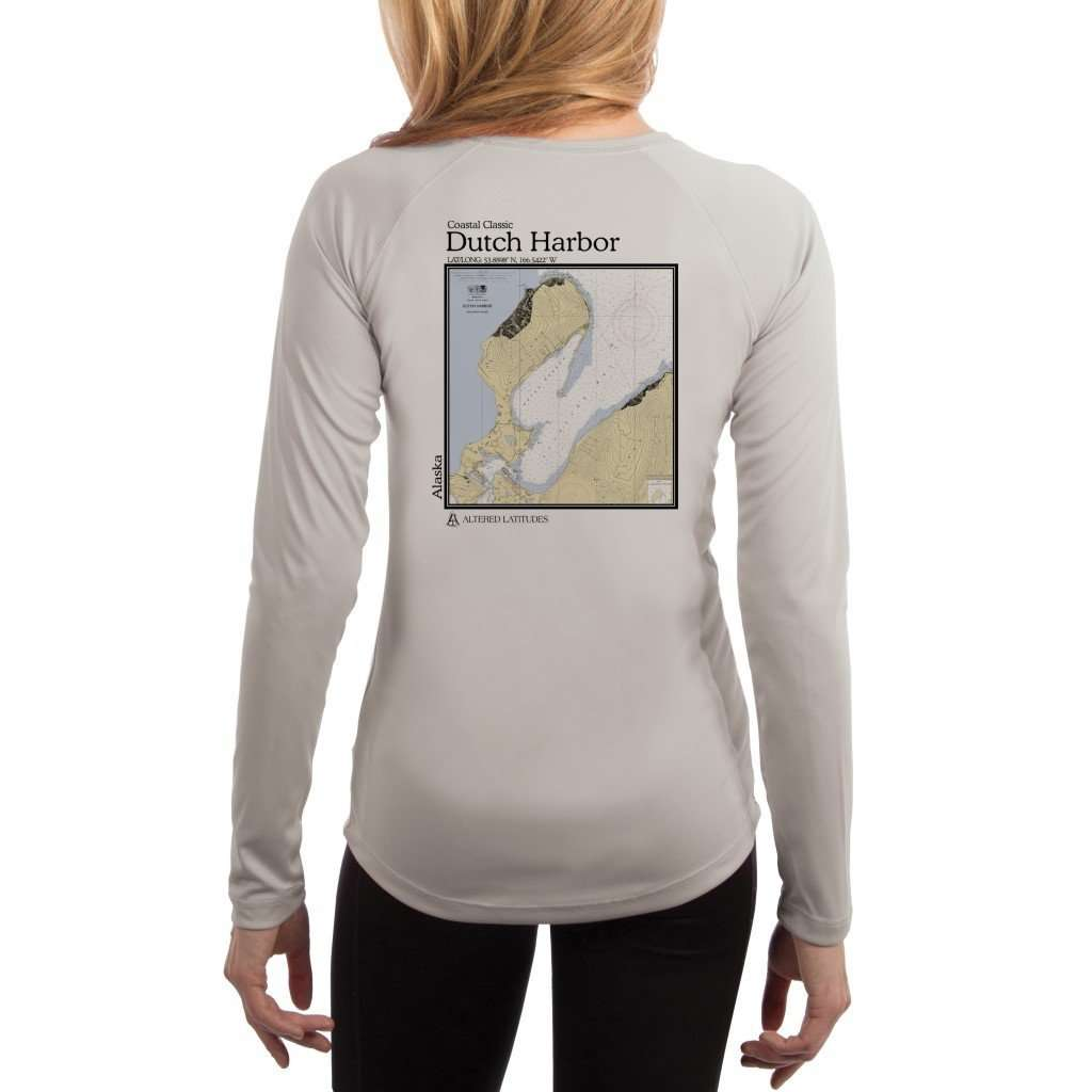 Coastal Classics Dutch Harbor Womens Upf 50+ Uv/sun Protection Performance T-Shirt Pearl Grey / X-Small Shirt