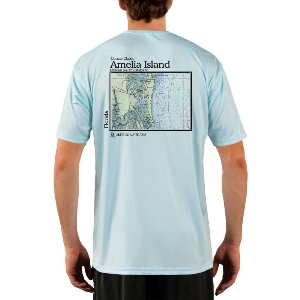 Coastal Classics Amelia Island Mens Upf 50+ Uv/sun Protection Performance T-Shirt Arctic Blue / X-Small Shirt