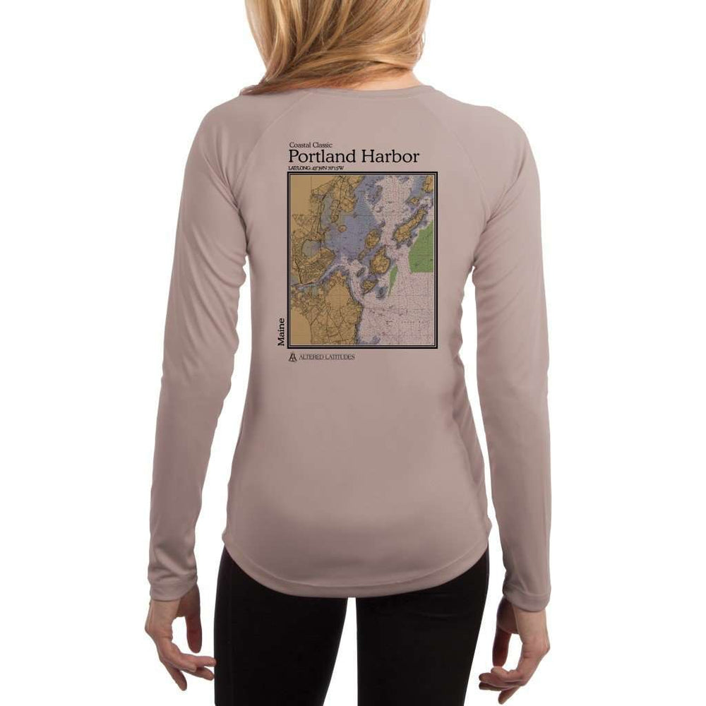 Coastal Classics Portland Harbor Womens Upf 5+ Uv/sun Protection Performance T-Shirt Athletic Grey / X-Small Shirt