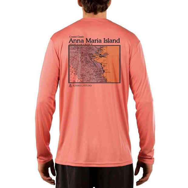 Coastal Classics Anna Maria Island Men's UPF 50+ UV/Sun Protection Performance T-shirt - Altered Latitudes