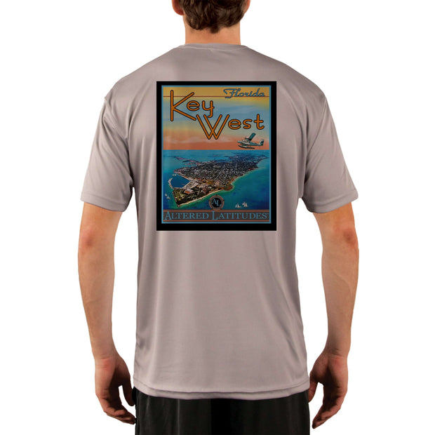Vintage Destination Key West Men's UPF 5+ UV Sun Protection Short Sleeve T-shirt - Altered Latitudes
