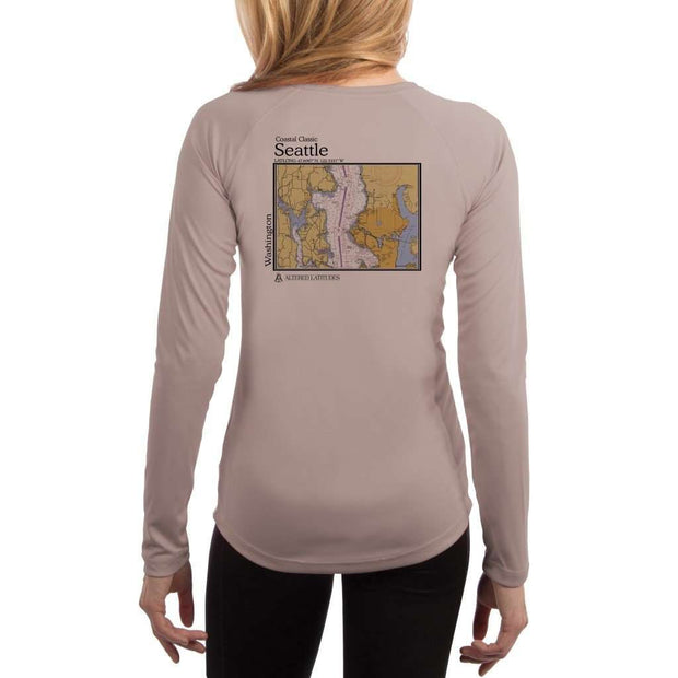 Coastal Classics Seattle Womens Upf 5+ Uv/sun Protection Performance T-Shirt Athletic Grey / X-Small Shirt