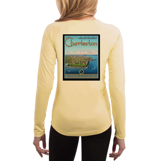 Vintage Destination Charleston Women's UPF 50+ UV Sun Protection Long Sleeve T-shirt