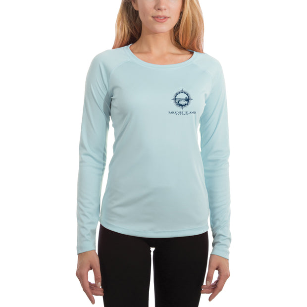 Compass Vintage Paradise Island Women's UPF 50+ Long Sleeve T-shirt