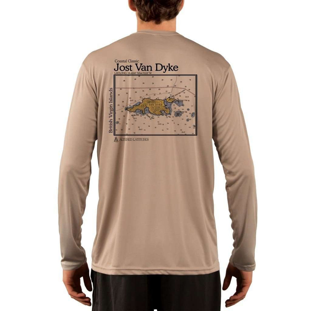 Coastal Classics Jost Van Dyke Mens Upf 5+ Uv/sun Protection Performance T-Shirt Tan / X-Small Shirt