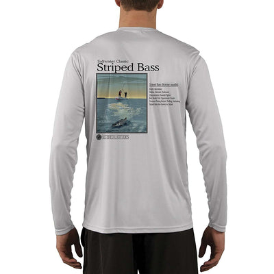 Saltwater Classic Striped Bass Men's UPF 50+ Long Sleeve T-Shirt