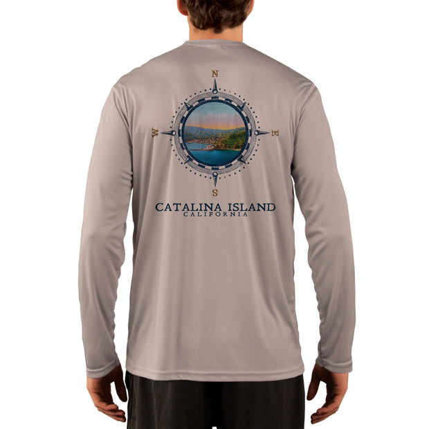 Compass Vintage Catalina Island Men's UPF 50+ Long Sleeve T-Shirt
