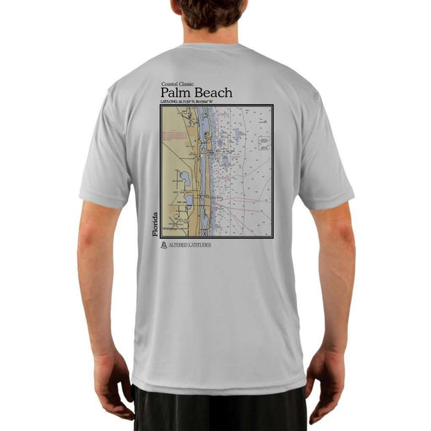 Coastal Classics Palm Beach Mens Upf 5+ Uv/sun Protection Performance T-Shirt Pearl Grey / X-Small Shirt