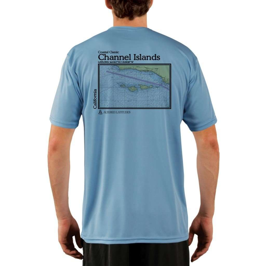 Coastal Classics Channel Islands Mens Upf 50+ Uv/sun Protection Performance T-Shirt Columbia Blue / X-Small Shirt