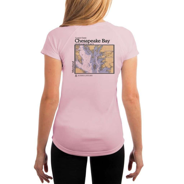 Coastal Classics Chesapeake Bay Womens Upf 5+ Uv/sun Protection Performance T-Shirt Pink Blossom / X-Small Shirt