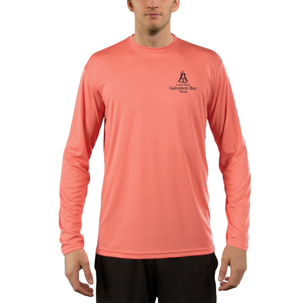 Coastal Classics Galveston Chart Men's UPF 50+ Long Sleeve T-Shirt