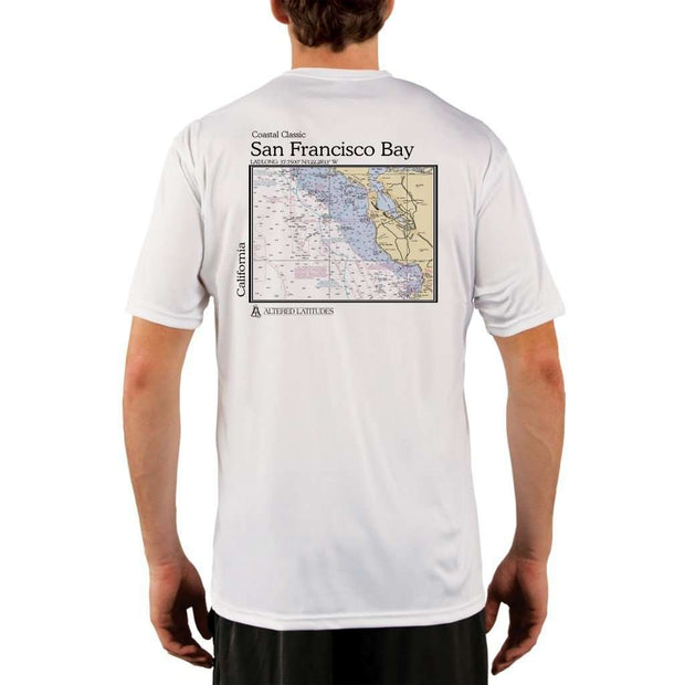 Coastal Classics San Francisco Bay Mens Upf 5+ Uv/sun Protection Performance T-Shirt White / X-Small Shirt