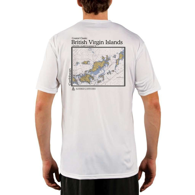 Coastal Classics British Virgin Islands Mens Upf 5+ Uv/sun Protection Performance T-Shirt White / X-Small Shirt