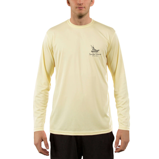 Vintage Destination Sanibel Island Men's UPF 50+ UV Sun Protection Long Sleeve T-Shirt