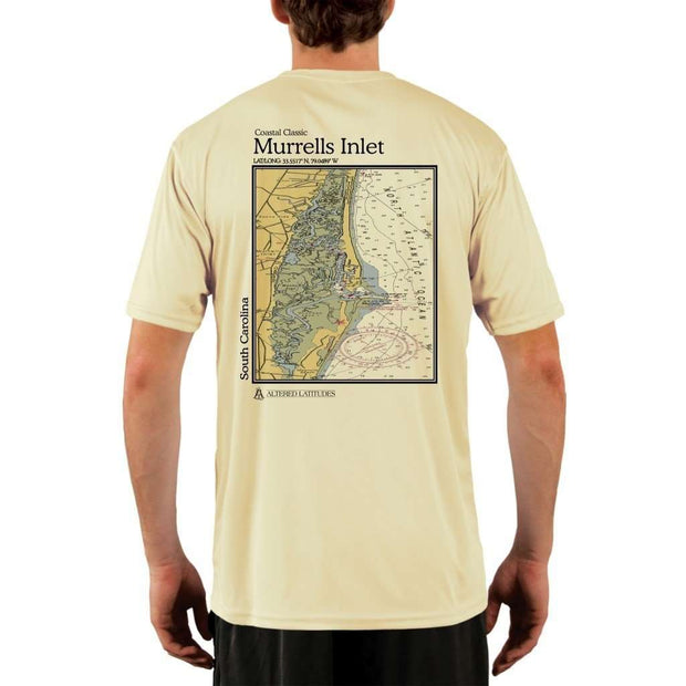 Coastal Classics Murrells Inlet Mens Upf 5+ Uv/sun Protection Performance T-Shirt Pale Yellow / X-Small Shirt