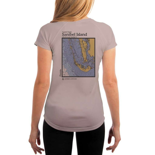 Coastal Classics Sanibel Island Womens Upf 5+ Uv/sun Protection Performance T-Shirt Athletic Grey / X-Small Shirt