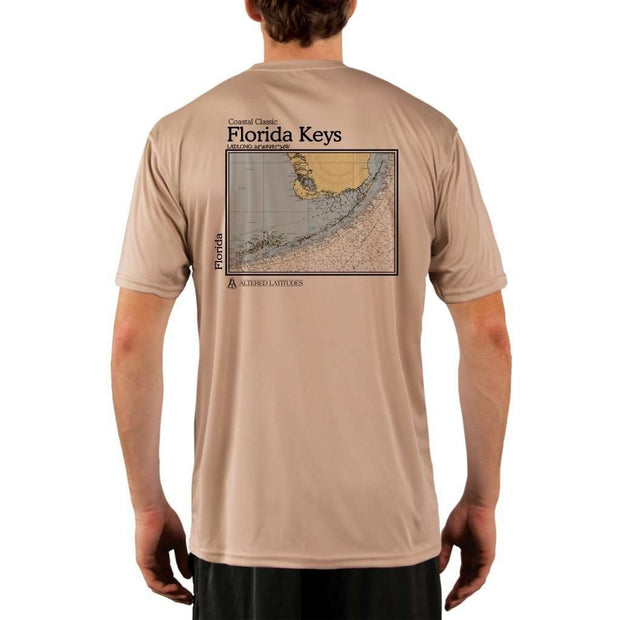 Coastal Classics Florida Keys Mens Upf 5+ Uv/sun Protection Performance T-Shirt Tan / X-Small Shirt