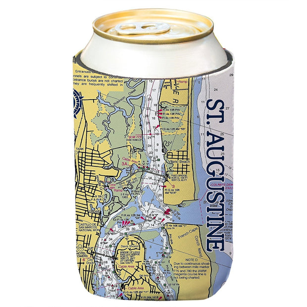Altered Latitudes St. Augustine Chart Standard Can Cooler (4-Pack)