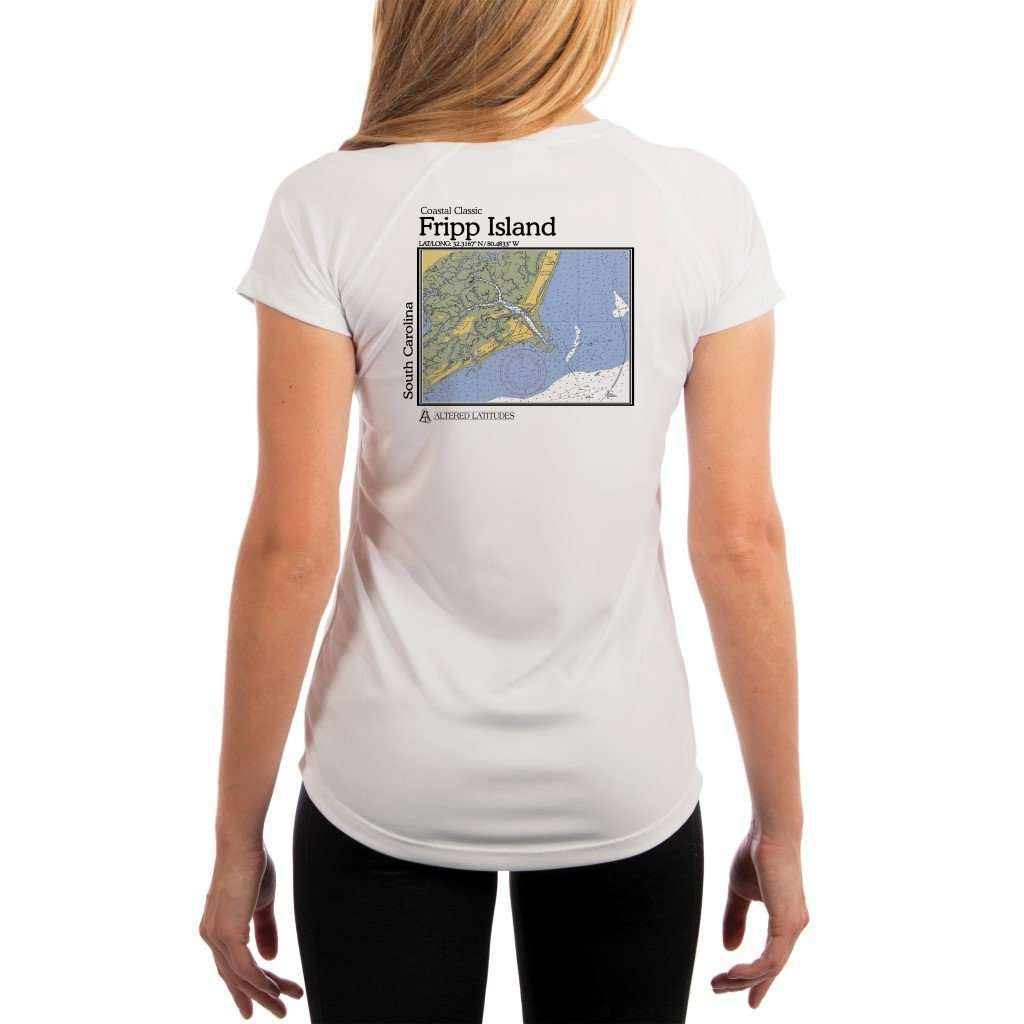 Coastal Classics Fripp Island Womens Upf 50+ Uv/sun Protection Performance T-Shirt White / X-Small Shirt