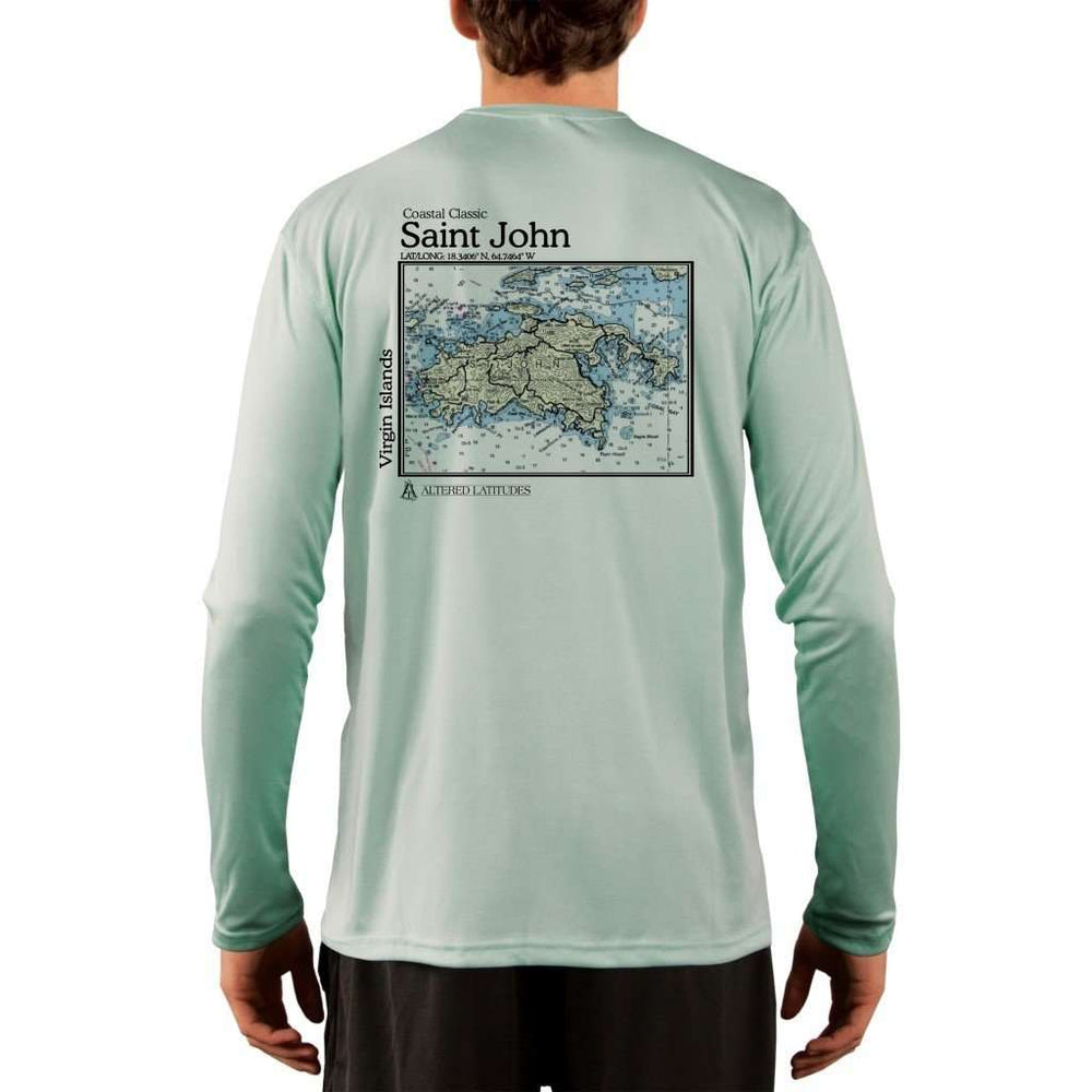 Coastal Classics Saint John Mens Upf 5+ Uv/sun Protection Performance T-Shirt Seagrass / X-Small Shirt